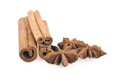 Cinnamon and nutmeg Stock Image