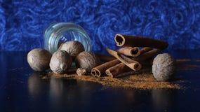 Cinnamon and Nutmeg Stock Images