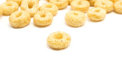 Cinnamon O's cereal up close Royalty Free Stock Photography