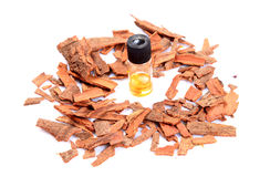 Cinnamon and oil Stock Images