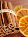 Cinnamon and orange #2 Stock Photos