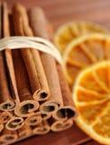 Cinnamon and orange #2 Stock Photos