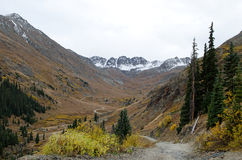 Cinnamon Pass off-road trail Royalty Free Stock Photos