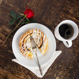 Cinnamon Pastry and Coffee Royalty Free Stock Photo