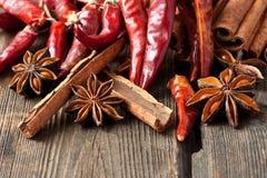 Cinnamon and pepper Stock Photo