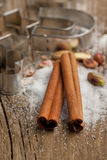 Cinnamon Piles With Sugar Royalty Free Stock Image
