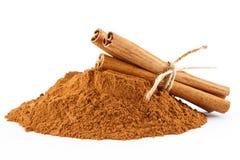 Free Cinnamon Powder And Sticks Stock Photography - 42801552