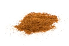 Cinnamon powder closeup Stock Photo
