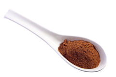 Cinnamon powder on a spoon Royalty Free Stock Photography