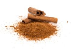 Cinnamon powder closeup Royalty Free Stock Photos