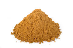 Cinnamon powder at on white background Royalty Free Stock Photography
