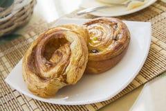 Cinnamon puff pastry rolls Stock Photo