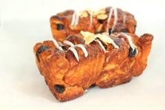 Cinnamon raisin bread on a white. A Cinnamon raisin bread on a white Stock Images