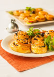 Cinnamon and Raisin buns. Delicious cinnamon and raisin buns Royalty Free Stock Images