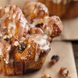 Cinnamon Raisin Muffins - Cobblestone Stock Image