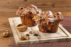 Cinnamon Raisin Muffins - Cobblestone Royalty Free Stock Photos