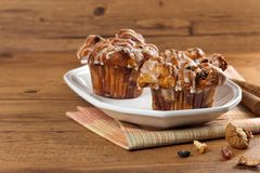 Cinnamon Raisin Muffins - Cobblestone Royalty Free Stock Images