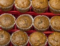 Cinnamon raisin nut muffins Stock Images