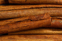 Cinnamon raw food ingredient texture. Macro close up detailed Royalty Free Stock Photography