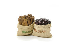 Cinnamon and red bean Stock Photography