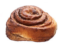 Cinnamon Roll. Isolated on white background stock photo
