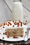 Cinnamon Roll Cake. With cinnamon chip topping Royalty Free Stock Image
