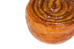 Cinnamon Roll Isolated on a White Background Stock Image