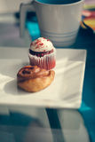 Cinnamon Roll And Muffin Stock Image