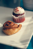 Cinnamon Roll And Muffin Stock Photography