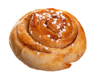 Cinnamon roll on white Royalty Free Stock Photography