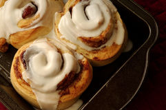 Cinnamon Rolls. Fresh and hot right out of the oven Stock Photo