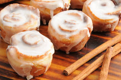 Cinnamon rolls. Close up of mini cinnamon rolls Royalty Free Stock Photos