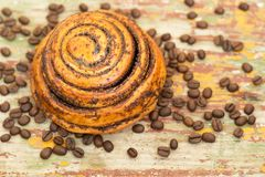 Cinnamon rolls bun. stock images