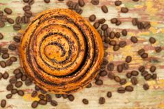 Cinnamon rolls bun. royalty free stock photo