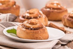 Cinnamon rolls. Royalty Free Stock Images