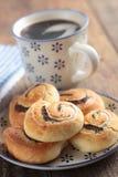 Cinnamon rolls and coffee Stock Photography