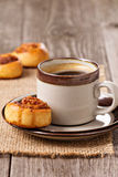 Cinnamon rolls with coffee Stock Photography