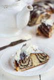 Cinnamon rolls with cream-cheese icing Royalty Free Stock Photos