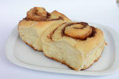 Cinnamon rolls. Homemade cinnabons, made with brown sugar and cinnamon Royalty Free Stock Photography