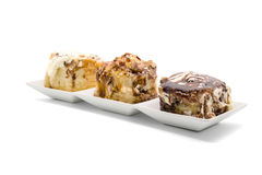 Cinnamon rolls with luxury topping Royalty Free Stock Image