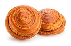 Cinnamon rolls. Path isolated on white Stock Photography