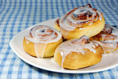 Cinnamon Rolls on a plate Stock Photography