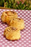 Cinnamon rolls, selective focus Royalty Free Stock Image