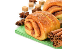 Cinnamon rolls Stock Photos