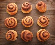 9 cinnamon rolls Stock Image