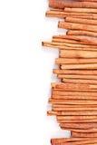 Cinnamon Side Border. Cinnamon Sticks Uneven For Side Border Royalty Free Stock Photo