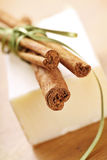 Cinnamon soap Royalty Free Stock Images