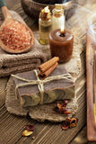 Cinnamon soap Stock Image