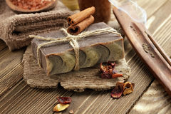 Cinnamon soap Royalty Free Stock Photos