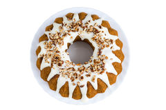 Cinnamon sour cream cake Stock Photography